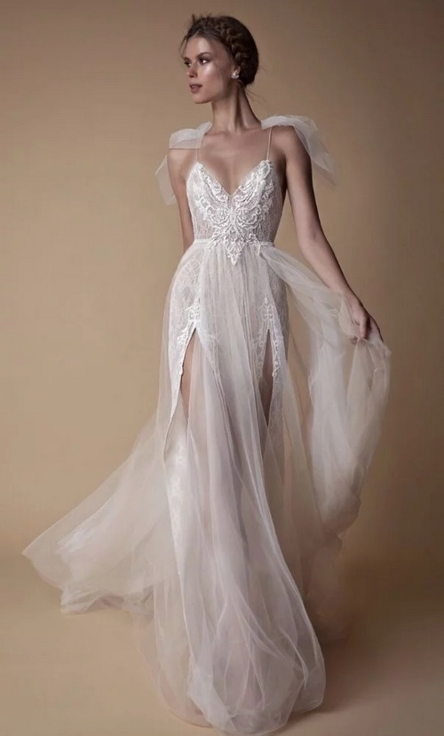 tulle and lace wedding drss