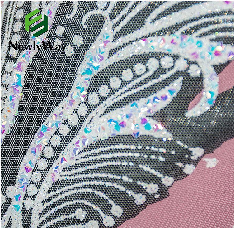 tulle glitter lace wedding dress fabric 3