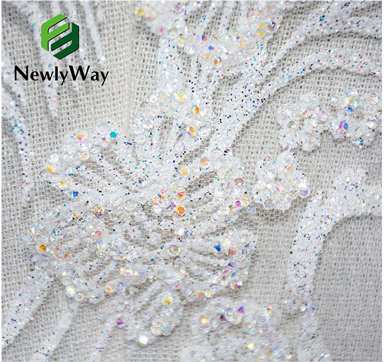 tulle glitter lace wedding dress fabric 4