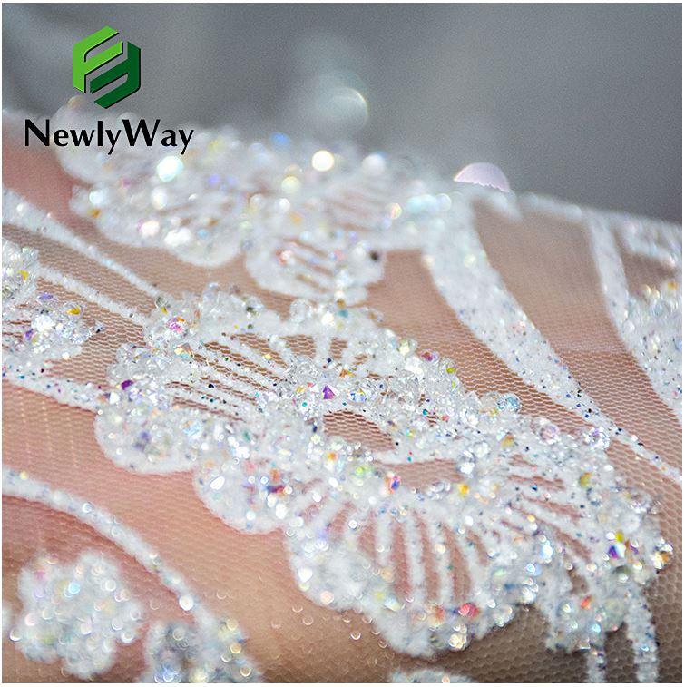 tulle glitter lace wedding dress fabric 5