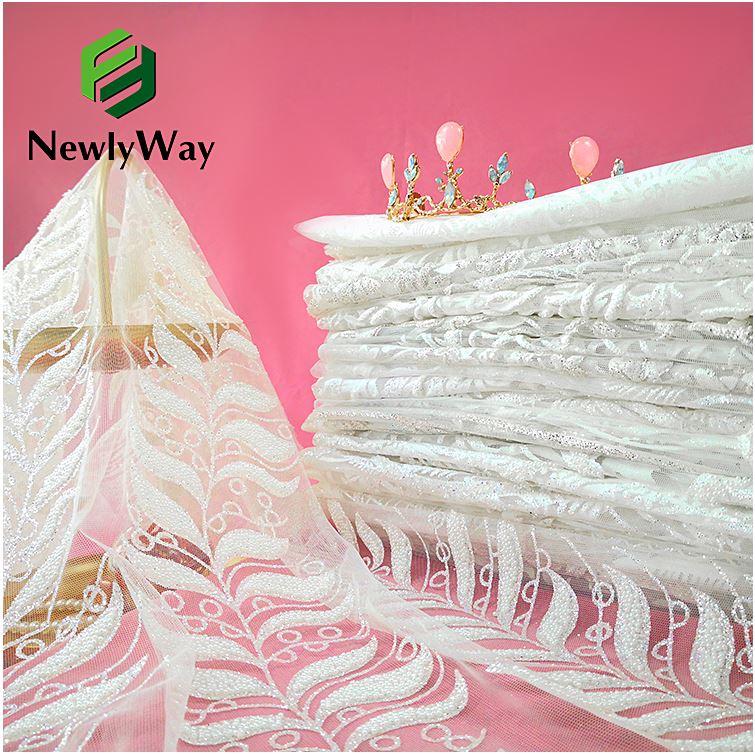 tulle glitter lace wedding dress fabric 6
