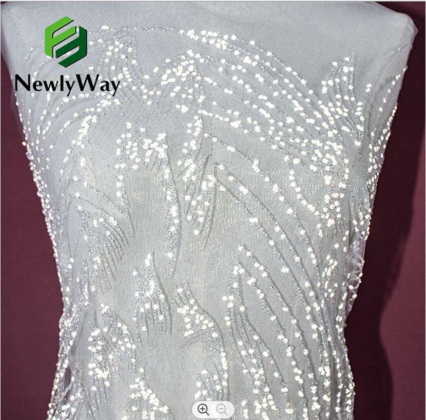 tulle glitter lace wedding dress fabric